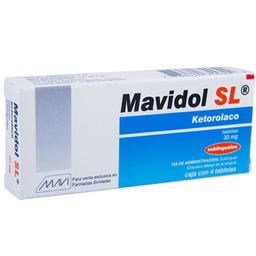 Mavidol Sl Sublingual 4 Tabletas (30 Mg)