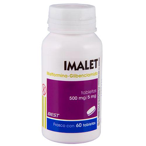 Comprar Imalet 60 Tabletas (500 Mg/5 Mg)