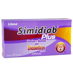 Vitaminas Y Minerales Simidiab Para Diabeticos 30 Cápsulas