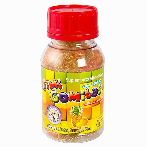 Comprar Gomitas Vit/Mine 60Pzas Sabores Simigomi
