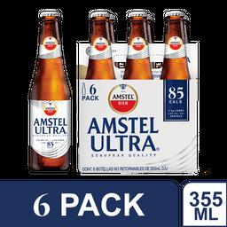 6 pack Cerveza  Amstel Ultra Botella 355 mL