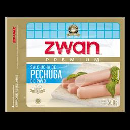 Salchicha Zwan Premium De Pechuga De Pavo 500 g