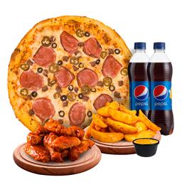 Pizza Paquete Compartas