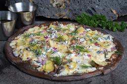 Pizza de Alcachofa - Queso de Cabra y Cebolla Morada