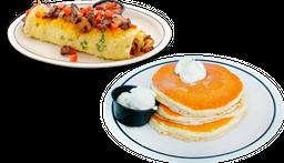 Colorado Omelette + 3 Original Buttermilk (Pancakes)