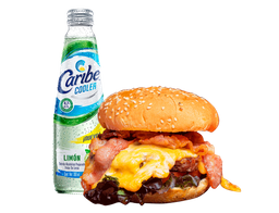 Cheese Bacon Burger + Caribe Cooler GRATIS