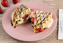 Waffle Fresa Plátano