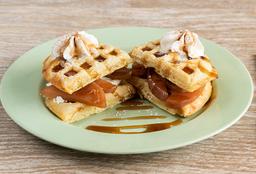 Waffle Manzana Canela