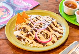 Enchiladas de Mole con Queso