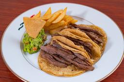 Tacos de Arrachera (orden de tres).