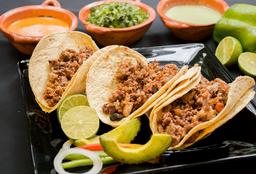 Orden de Tres Tacos Campechano