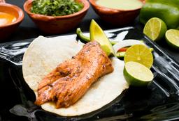 Taco con Queso  Carne Enchilada