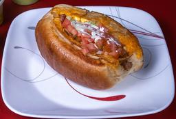 Hot Dog Especial de Tres Quesos