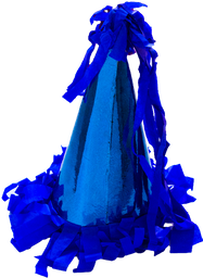 Gorrito de Fiesta The Confetti Party Azul Rey 10 U