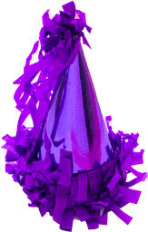 Gorrito de Fiesta The Confetti Party Morado 10 U