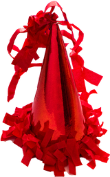 Gorrito de Fiesta The Confetti Party Rojo 10 U