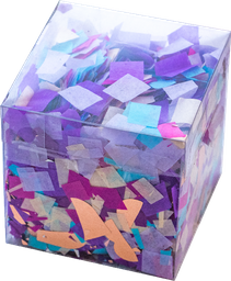 Caja de Confetti The Confetti Party Color Morado Azul y Rosa 1 U