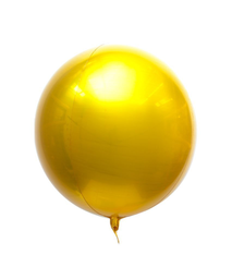 Globo Esfera Metalico Oro Happy B-Day The Confetti Party 1 U