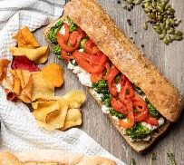 Baguette de Vegetales Rostizados