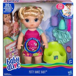 Muñeca Baby Alive Bebe Va Al Baño Rubia 1 U
