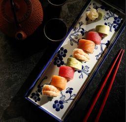 Asian Rainbow Roll Sushi