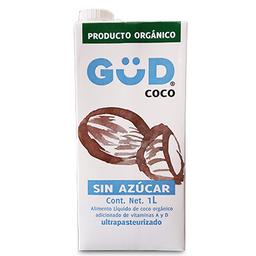 Leche de Coco Orgánica Gud Sin Azúcar 1 L