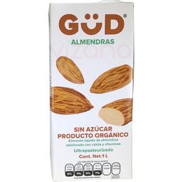 Leche de Almendras Sin Azúcar Orgánica Gud 1 L