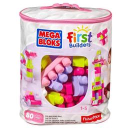 Set de Construcción Mega Bloks Bolsa Rosa con 80 Piezas 1 U
