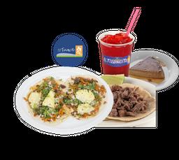 Combo Completito Gringa + Bistec + Agua + Flan