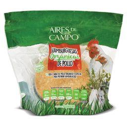 Hamburguesas Orgánicas de Pollo Aires de Campo