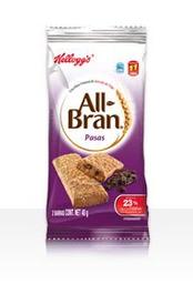 All Bran All-bran Barra de Trigo Con Pasas