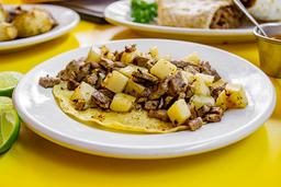 Taco Bistec con Papas