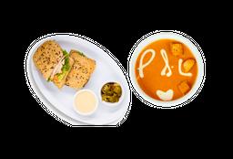Sandwich +Sopa o Crema