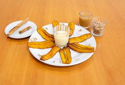 Platanos Fritos con Lechera y Canela