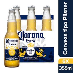 6 Und. Cerveza Corona Extra Botella 355 mL