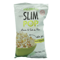 Slim Pop Palomitas Limón Sal de Mar
