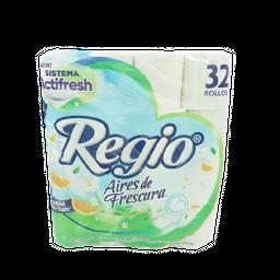 Papel Higiénico Regio Aires De Frescura 32 U Regio Paquete
