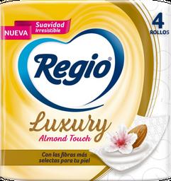 Papel Higiénico Regio Luxury Almond Touch - Regio Paquete 4 Und