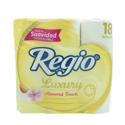 Papel Higiénico Regio Luxury Almond Touch - Regio Paquete 18 Und