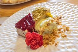 Cheesecake con Gelato al Pistacchio