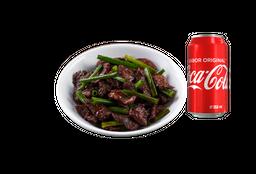 Mongolian Beef  + 1 Refresco 355 mL