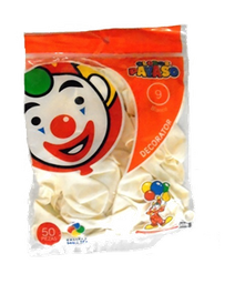 Globos Payaso Blanco No.9
