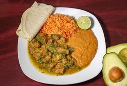 Platillo de Chicharrón en Salsa Verde