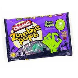 Paleta Charms Zombie Halloween 258 g