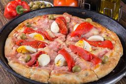 Pizza de Jamón, Morron y Huevo