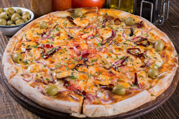 Pizza de Camarón a la Diabla