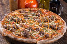 Pizza de Albondigas