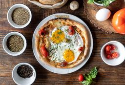 Pizza Fugazzeta y Huevo