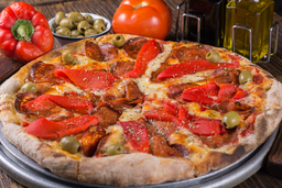 Pizza 5 Quesos y Panceta