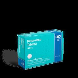 Ketorolaco Sublingual 6 Tabletas (30 mg)